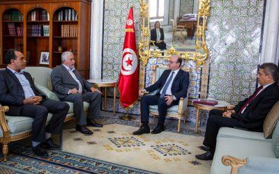 Le Chef Du Gouvernement Tunisien Reçoit Le Président de l'Union Tunisienne de l'Agriculture et de la Pêche